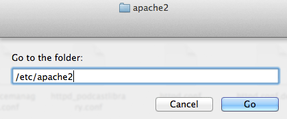 Navigating to system files on MAC OSX